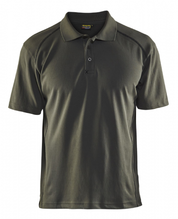 Blaklader 3326 Pique UV Protection Polo Shirt (Army Green)
